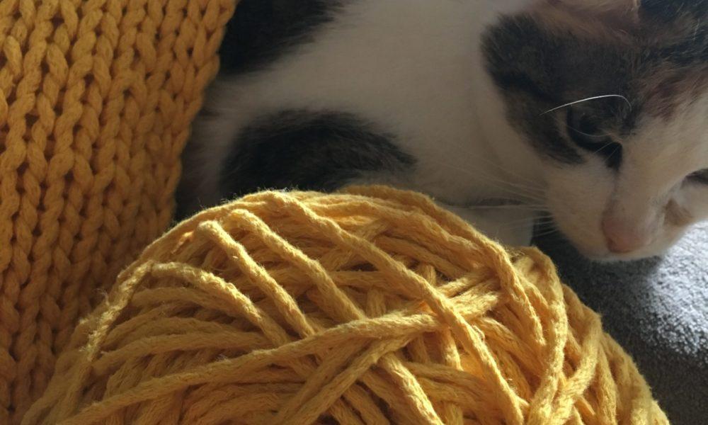 narzuta hand made zpagetti